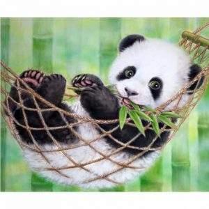 Panda in a hammock diamond painting kit