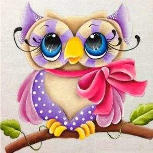 Cute owl 5D diamond painting kit