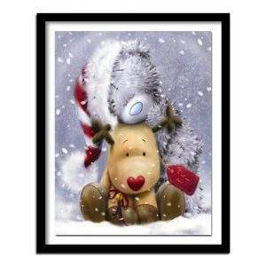 Teddy and reindeer diamond painting