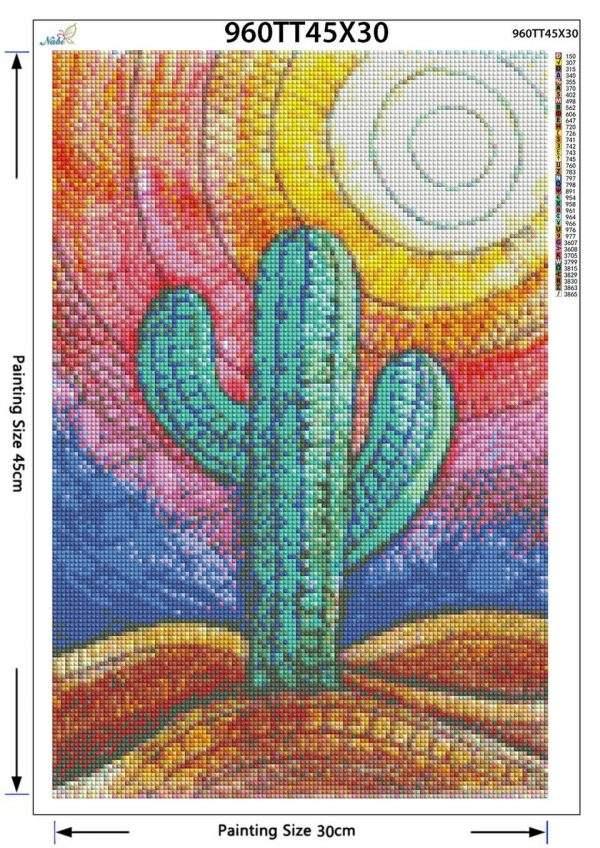 Desert Cactus Diamond Painting Kit for Beginners