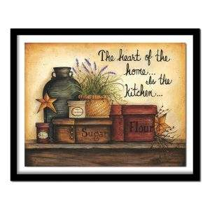 The heart of the home is the kitchen saying diamond painting kit