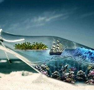 Boat in a bottle diamond art
