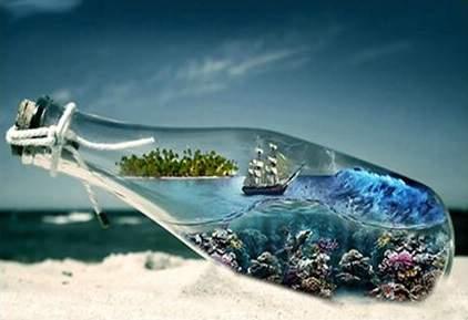 Boat in a bottle diamond art