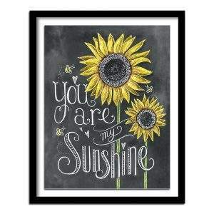 You are my sunshine chalkboard saying diamond painting kit