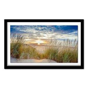 Beach at sunrise diamond painting kit