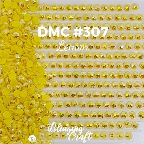 Blinging AB Round Drills DMC 307 Rows