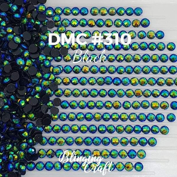 Blinging AB Round Drills DMC 310 Rows