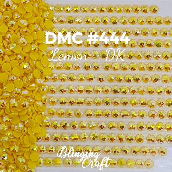 Blinging AB Round Drills DMC 444 Rows