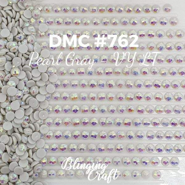 Blinging AB Round Drills DMC 762 Rows