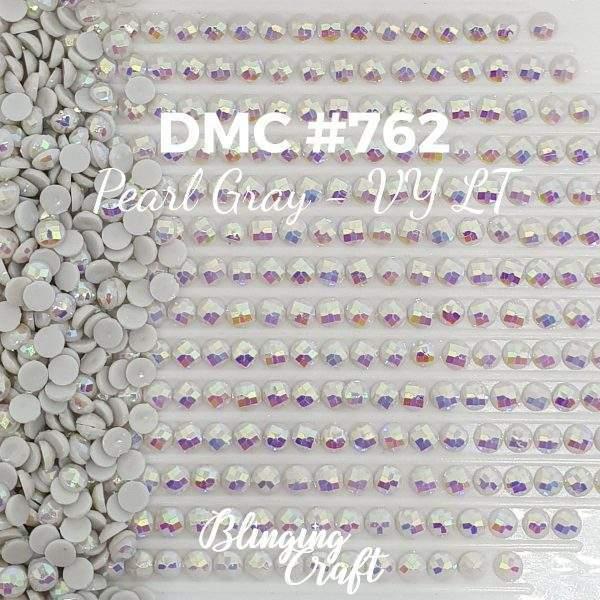 Blinging AB Round Drills DMC 762 Rows