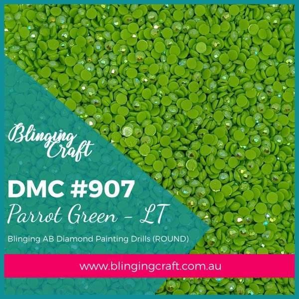 Blinging AB Round Drills DMC 907
