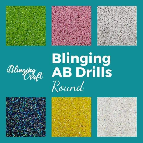 Blinging AB Round Drills DMC Colours