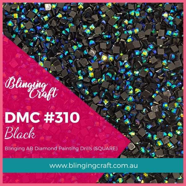 Blinging AB Square Drills DMC 310