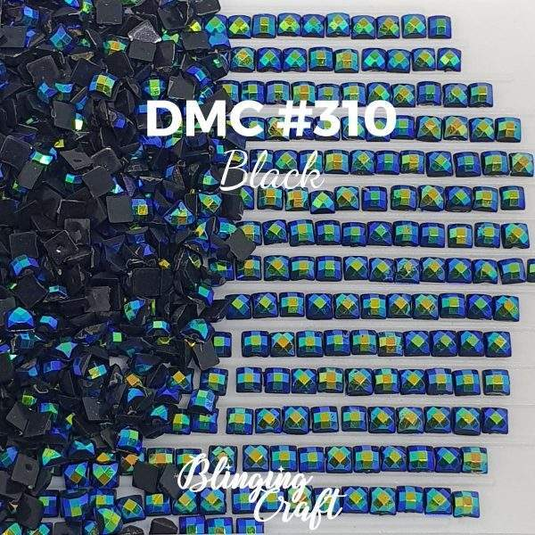 Blinging AB Square Drills DMC 310 Rows