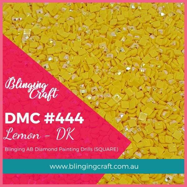 Blinging AB Square Drills DMC 444