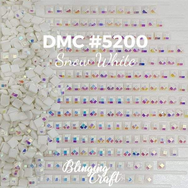 Blinging AB Square Drills DMC 5200 Rows