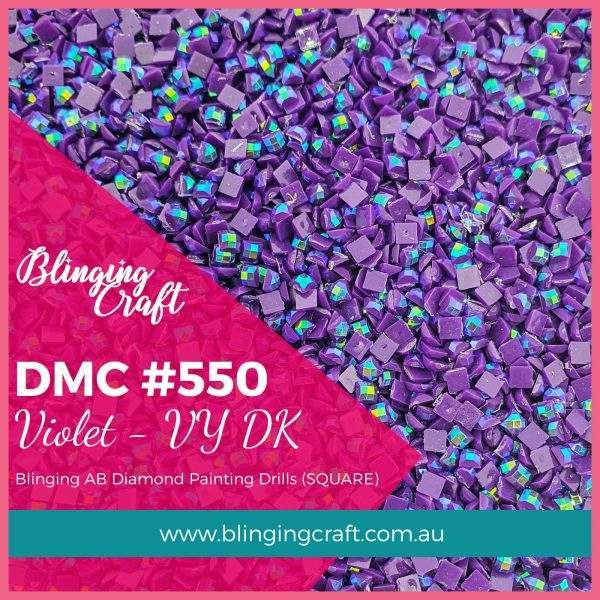 Blinging AB Square Drills DMC 550
