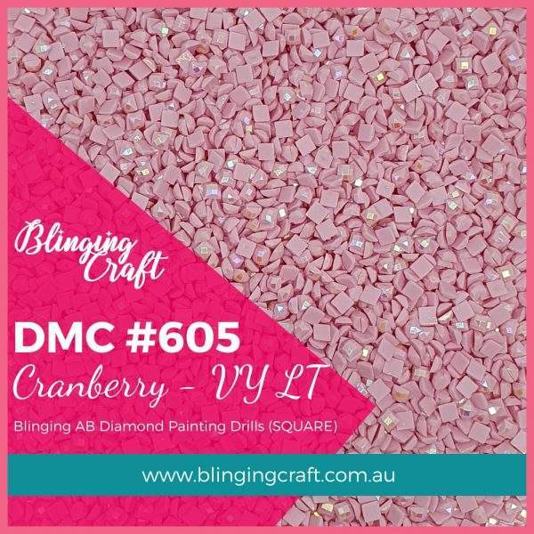 Blinging AB Square Drills DMC 605
