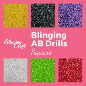 Blinging AB Square Drills DMC Colours