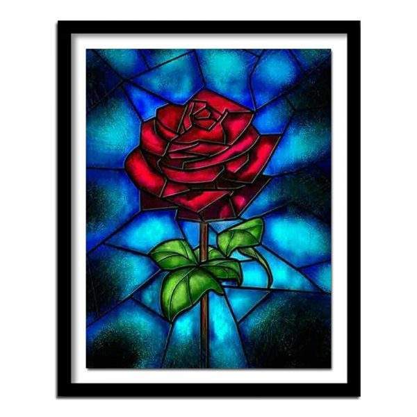 Mosaic red rose diamond painting kit