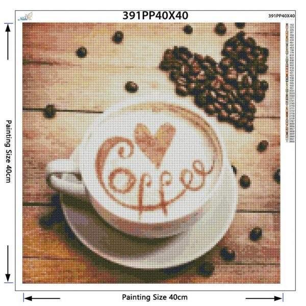 Coffee diamond painting kit