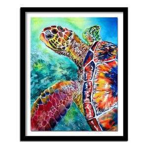 Colourful turtle diamond painting kit