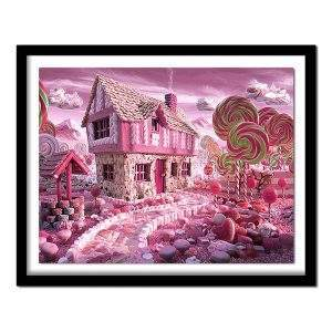 Pink Candy Land setting diamond painting kit