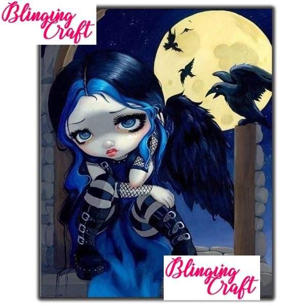 Sad Goth Girl Diamond Painting kit