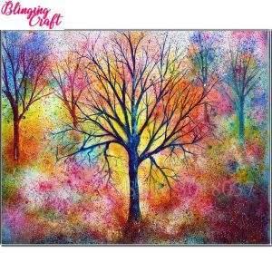 Water Colour autumn tree diamond art kit