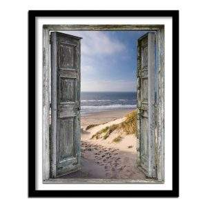 Beach through a door diamond art kit