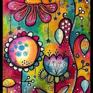 Abstract Cartoon Flower Diamond Painting Kit