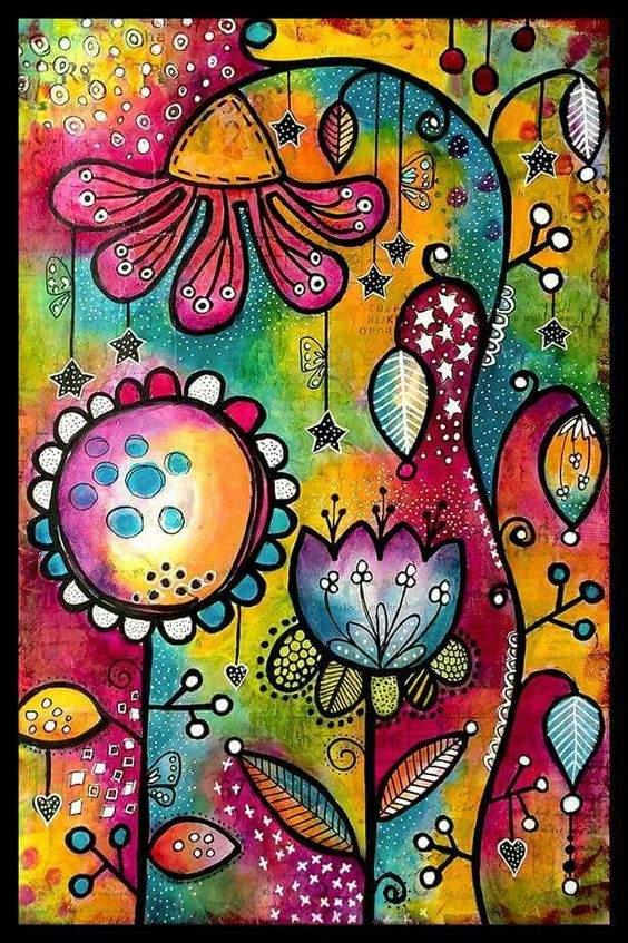 Abstract Cartoon Flower Diamond Painting Kit