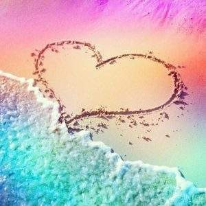 Rainbow Beach Heart Diamond Painting