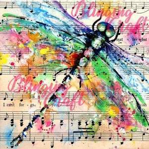 Dragonfly Music Sheet Diamond Painting Kit