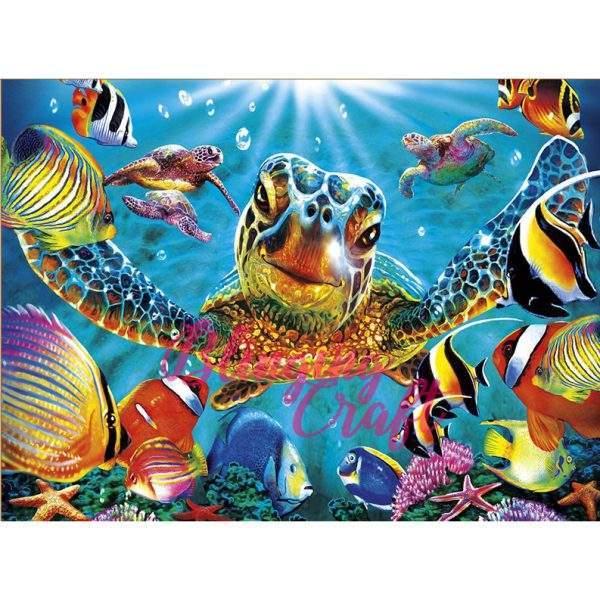 Inquisitive Turtle Ocean Life Diamond Painting Kit