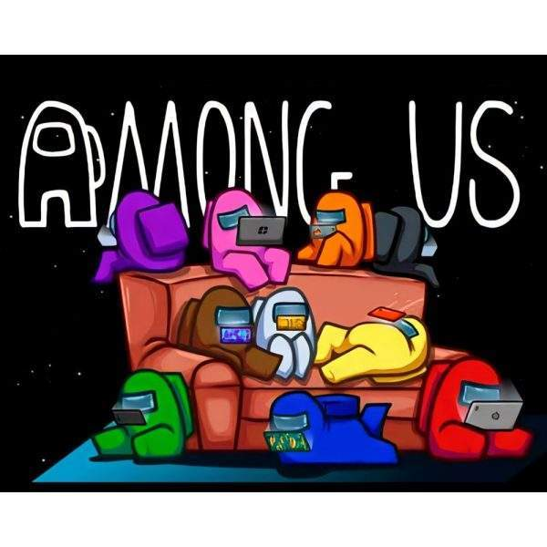 Among Us Gaming Couch Diamond Painting Kit