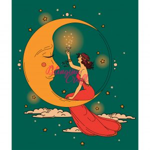 Art Deco Moon Diamond Painting Kit