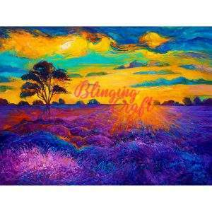 Lavender Field Diamond Painting Kit
